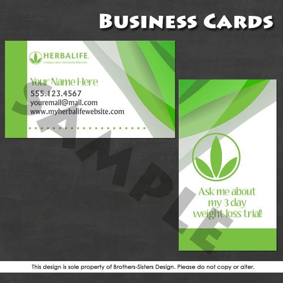 Herbalife Business Card Digital Download by