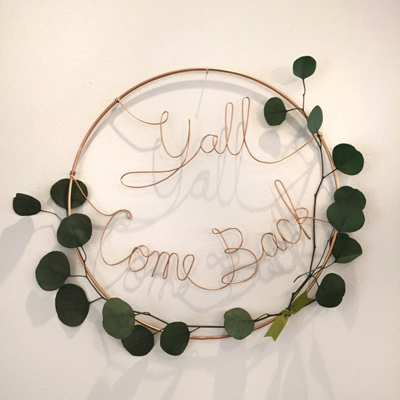 Wire and Eucalyptus Wall Wreath