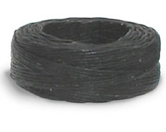 Waxed Thread 25 yds. (22.9 m) Black by Tandy Leather 11207-01