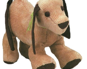 Adorable Vintage Puppy Soft Toy Pattern