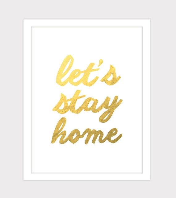 Items Similar To Let's Stay Home Art
