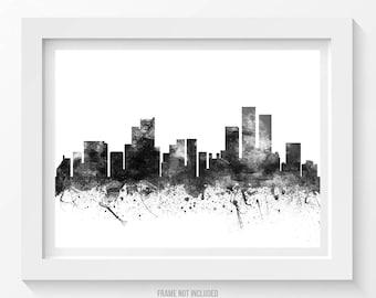 Anchorage Poster, Anchorage Cityscape, Anchorage Skyline, Anchorage Print, Anchorage Art, Anchorage Decor, Home Decor, Gift Idea 02BW