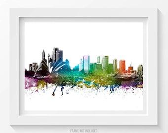 Sydney Australia Poster, Sydney Skyline, Sydney Cityscape, Sydney Print, Sydney Art, Home Decor, Gift Idea 01