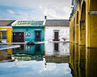 Antigua Water reflection Photo Print 8x10, 11x14, 16x20 or canvas