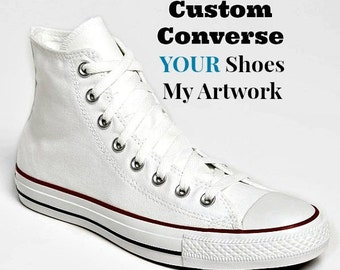 Painted Converse Custom Converse ARTWORK only YOUR Women's Men's Converse Women's Painted Converse Painted Shoes Unisex Painted Sneakers