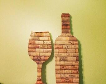 Wine glass & wine bottle bundle