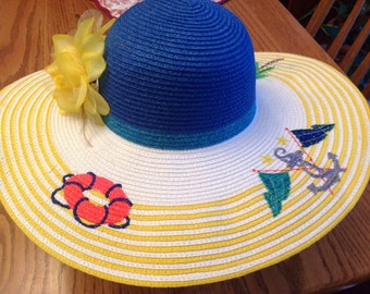 Nautical Beach Hat