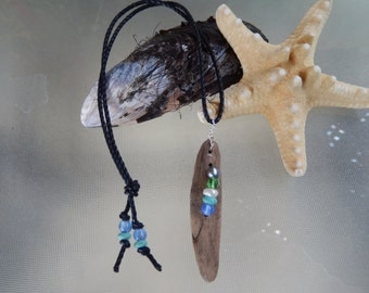 Driftwood Pendant, Beach Beads, Driftwood Necklace, *****FREE SHIPPING