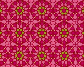 Patty Young OOP Fabric for Michael Miller  -  Mezzanine Collection  -  Stained Glass DC1429 in Pink  -  One Yard