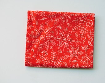 red floral fabric   Crimson Dance, Wild & Free by Maureen Cracknell for Art Gallery Limited Edition folk art, fabric by the yard