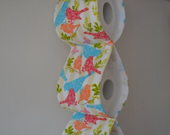 Practical decorative Toilet paper Holder storages with birds/ For 3 rolls
