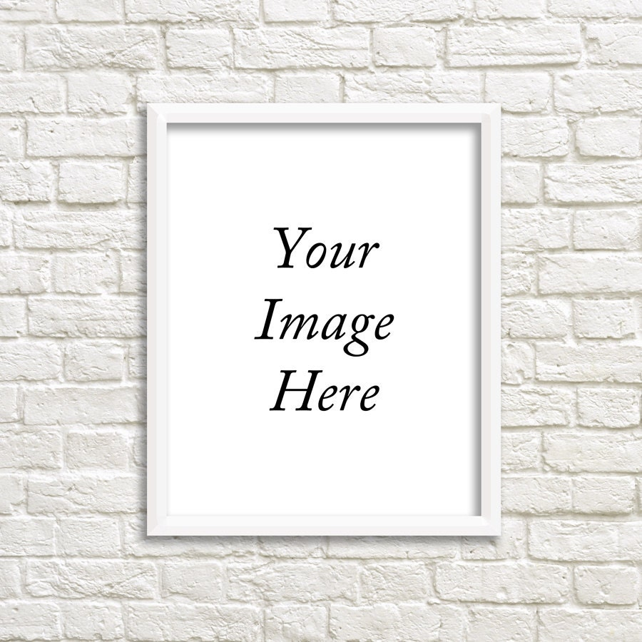 White frame mockup empty white frame white frame with for Cheap plain white wallpaper