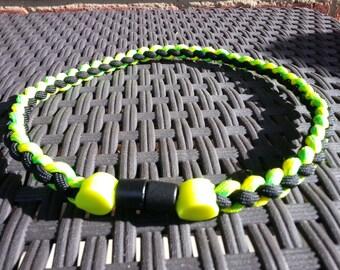 Round braid sports necklace
