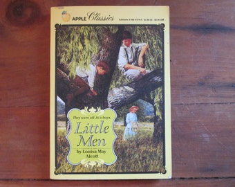 1987 Little Men by Louisa May Alcott, Apple Classics First Scholastic Printing, vintage Little Men, Louisa May Alcott, 1987 Little Men