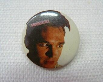 Vintage 80s Morrissey Close Up Portrait Pin / Button / Badge