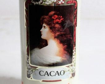"""Vintage Belgian cocoa tin """"Delhaize"""""""