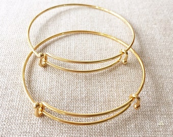 Sample Sale! Darling Bright Gold Bangle Bracelet
