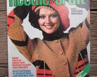 1975 Ladies' Home Journal NEEDLE & CRAFT Knitting Crochet Vintage