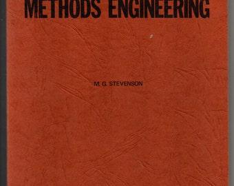 1976 METHODS ENGINEERING M.G. Stevenson First Edition Vintage Textbook