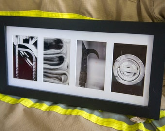 Items similar to custom painted any animal themed name for Personalized firefighter letter art