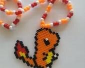 Charmander Kandi Necklace / Kandi / Pokemon kandi necklace