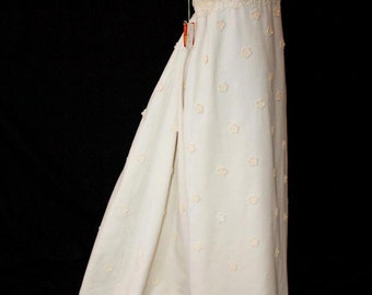 VINTAGE Daisy Applique Priscilla of Boston Wedding Gown w/Original price tag from the 1960s Size 6