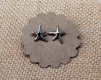 Silver Plated Starfish Stud