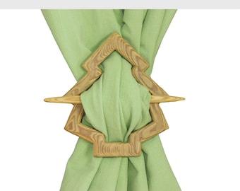 "Decorative curtain tie backs ""Fir shaped"""