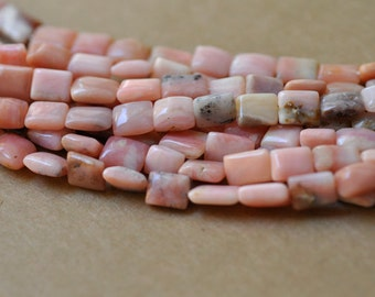 "Pink Peruvian Opal Rectangular Shape Beads 10-13 mm in size 16"" Strand"
