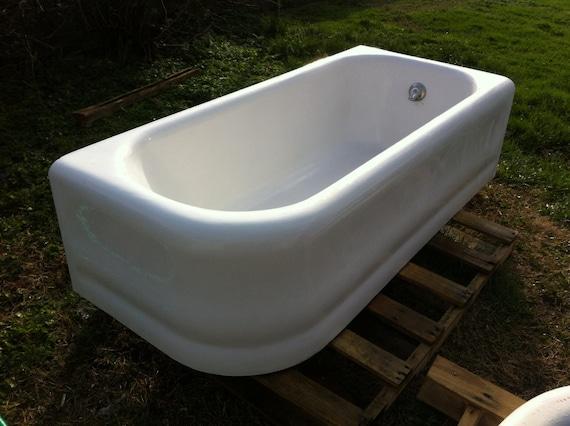 Vintage Antique Rare Set Art Deco Corner Bathtub By Almasfarmhouse