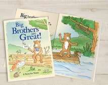 Personalised Big Brothers Are Great Book - Child's Book - New Baby Brother Gift
