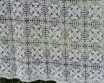 SALE ! Vintage Large Oversized Kingsize Hand Crochet Bedspread 283 x 310 cm / 111,4 x 122 inch Crochet Quilt Coverlet Blanket @99