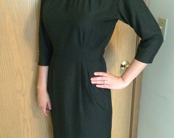 Late 1950s - Early 1960s Collared Dress