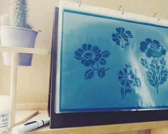 A4 Flower Stencil