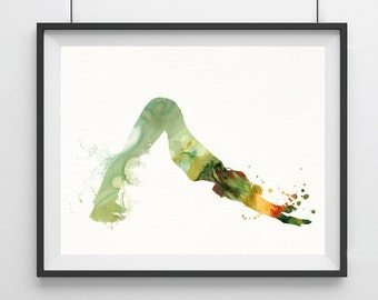 Yoga Watercolor painting Yoga pose print Yoga Artwork Yoga posture Art Yoga Poster Yoga wall decor Wall hanging Home art decor Yoga gift- 15