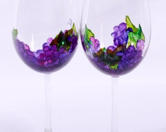 Grape wine glasses (set of 2)
