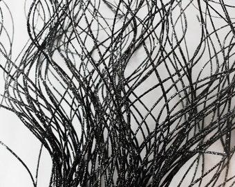 Black Sparkle Twisted Twigs - Per Dozen