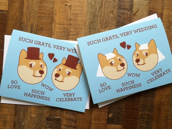 Gay or lesbian wedding card doge meme such grats very like this item solutioingenieria Choice Image