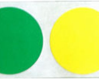 """1"""" Inch Round Multi-Colored Dot Stickers 