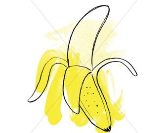 "Banana Peel #RIPE 8""x10"" Print"