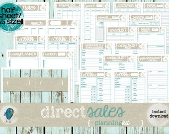 A5 Direct Sales Business Planner Kit: Party Planners & Checklists, Contacts Lists + Much MORE!  Instant Download!!