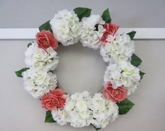 Beautiful Hydrangea and Rose Wreath