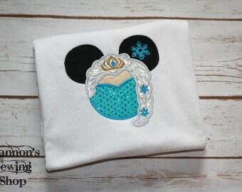 Mouse Ears Elsa Shirt, Elsa Minnie Shirt