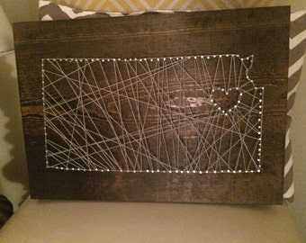 Nail String Art-Kansas