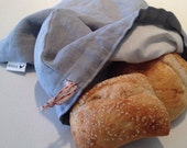 100% linen artisan bread bag