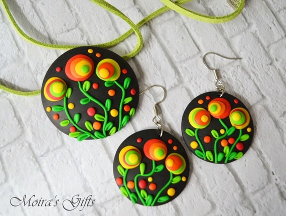 jewelry dangling earrings colorful pendant gift ideas for her