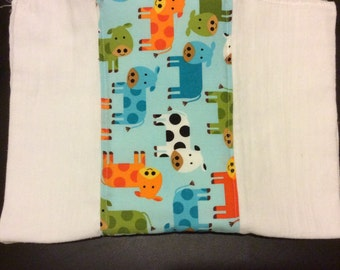 Blue Cows Burp Cloth