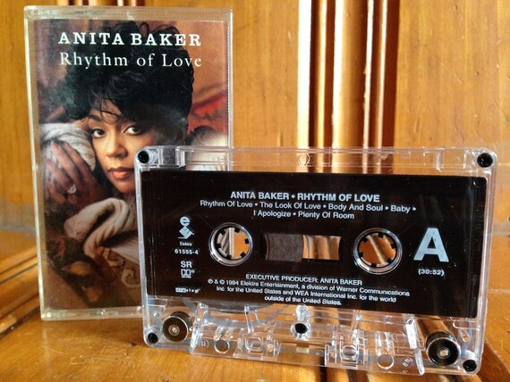 Anita Baker Rhythm Of Love Cassette Tape Vintage By Tentiques