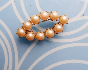 Signed Vogue Pearl Brooch
