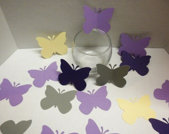 Die cuts-Butterflies, Scrapbooking, Embellishments, Butterfly, Purple,Cream, Paper and Party Supplies-DCPB-31
